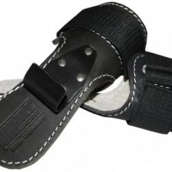 Крюки для перекладины и тяги кожаные