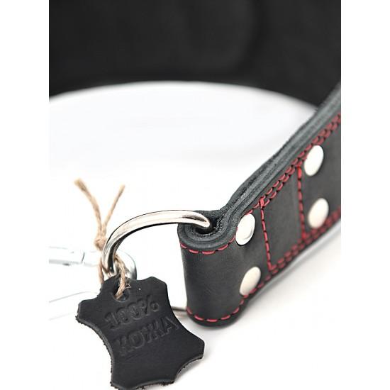 Пояс кожаный с цепью Pro Heavy Weight 85 см