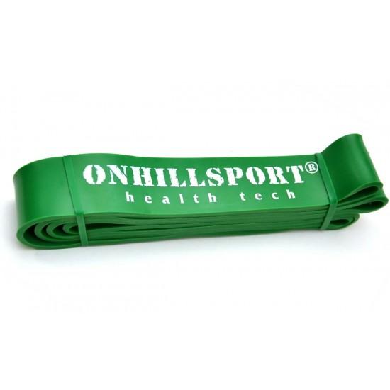 Латексная петля для фитнеса 2080 2080 (45 мм) зеленая 19-56 кг