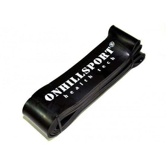 Латексная петля для фитнеса 2080 (64 мм) черная 25-70 кг
