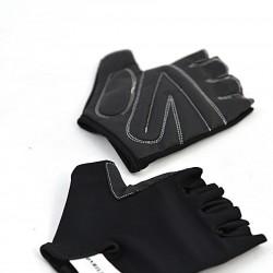 Перчатки для фитнеса unisex кожа черный Q12